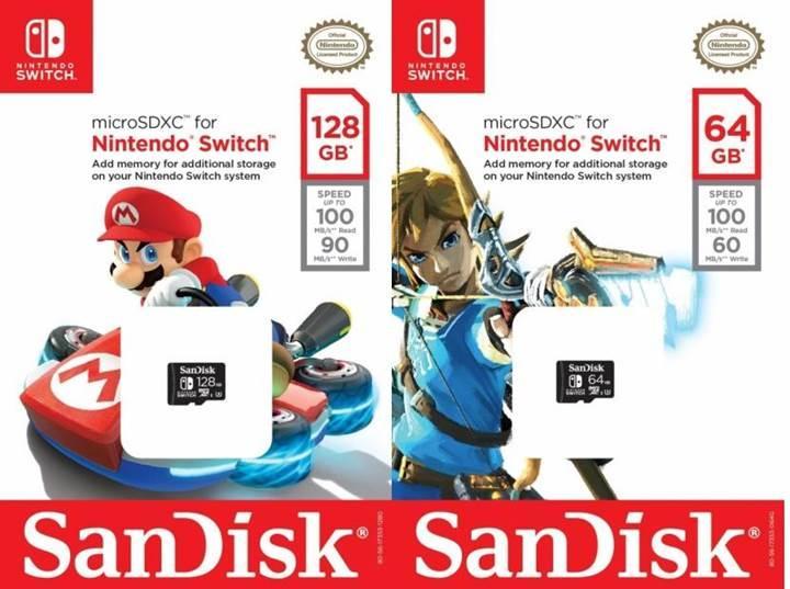 SanDisk'ten Nintendo Switch için özel microSD kartlar