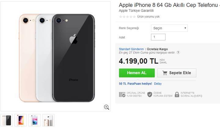 iPhone 8, ülkemizde bazı noktalarda ön siparişe açıldı