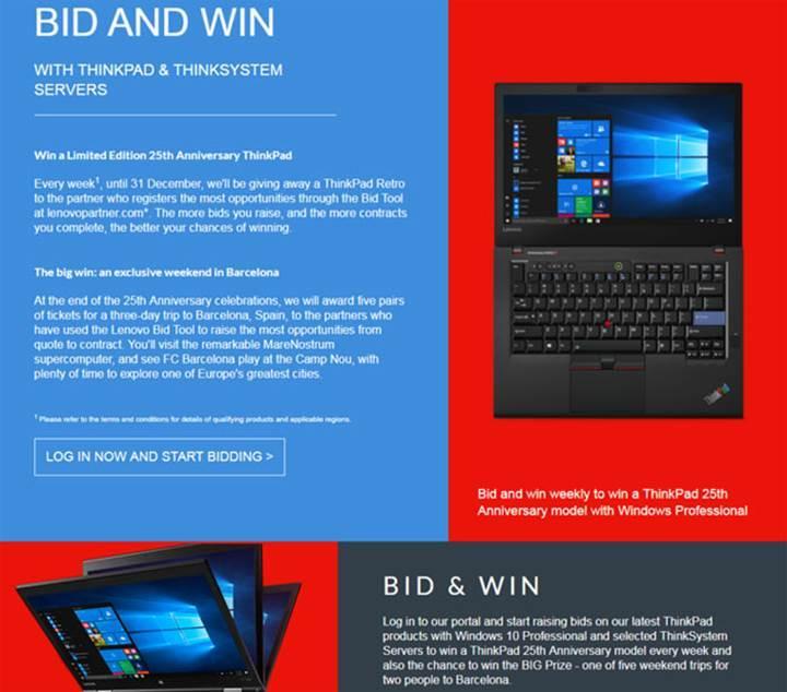 Lenovo'nun 25. Yıl ThinkPad bilgisayarı göründü