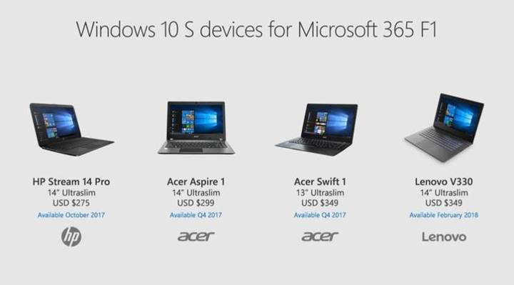 İşletmelere Windows 10 S'li bilgisayarlar geliyor