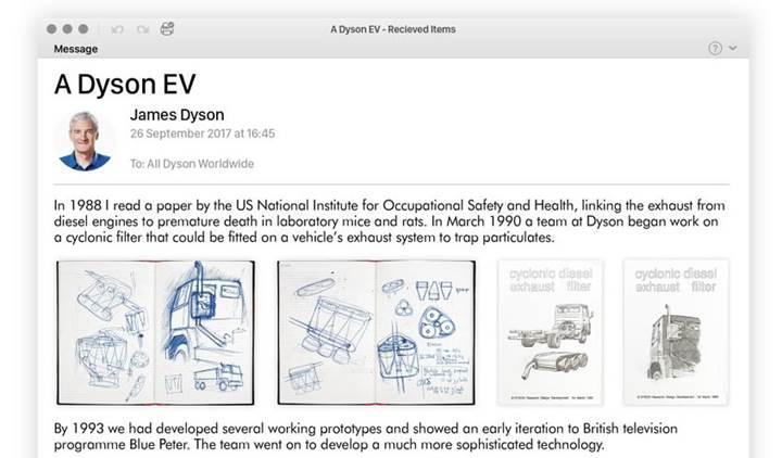Elektrikli süpürgeleriyle ünlü Dyson elektrikli otomobil yapıyor