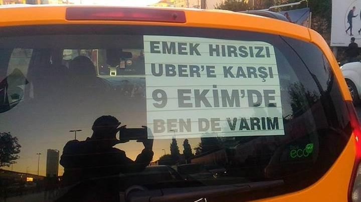 Taksiciler Pazartesi günü Uber'ı protesto edecek