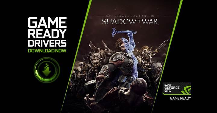 Yeni Game Ready sürücüsü Middle-earth: Shadow of War için geliyor