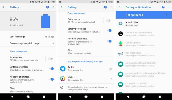 Google'ın pil uygulaması Play Store'da yayınlandı