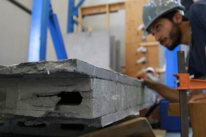 Deprem anında esneyebilen beton geliştirildi