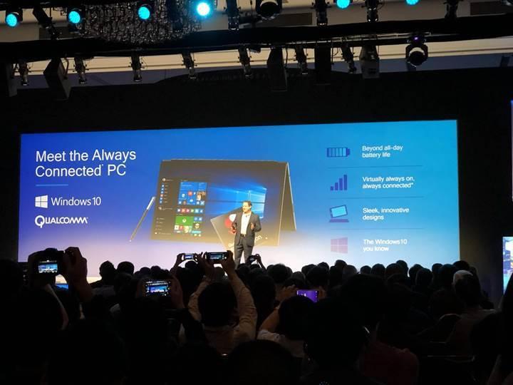 ARM işlemcili Windows 10 dizüstü bilgisayarlar pil ömrü konusunda çağ atlatacak