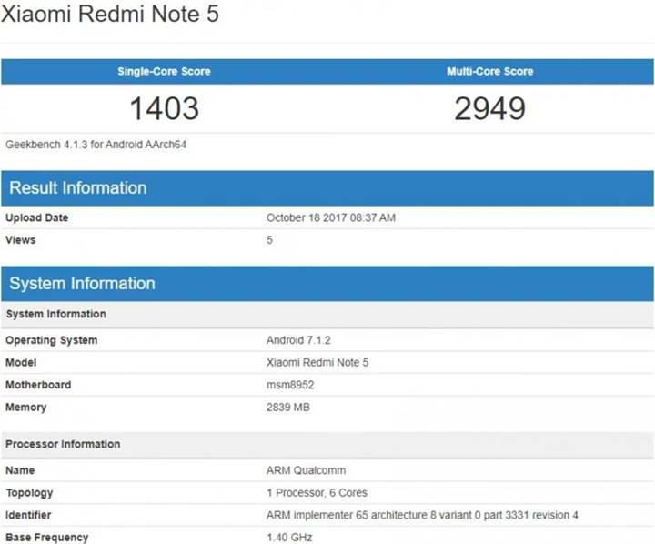 Xiaomi Redmi Note 5 sızmaya devam ediyor