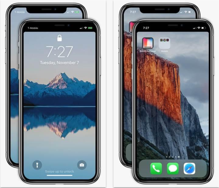 Notch Remover ile iPhone X çentiğinden kurtulun