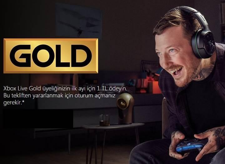 Aylık Xbox Live Gold ve Xbox Game Pass üyeliği kısa süre için 1 TL