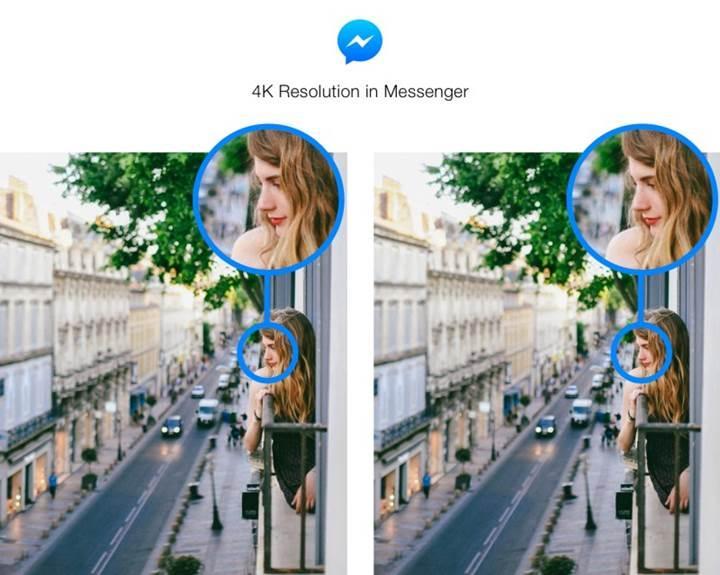 Facebook Messenger'da artık 4K çözünürlüğe kadar fotoğraf göndermek mümkün