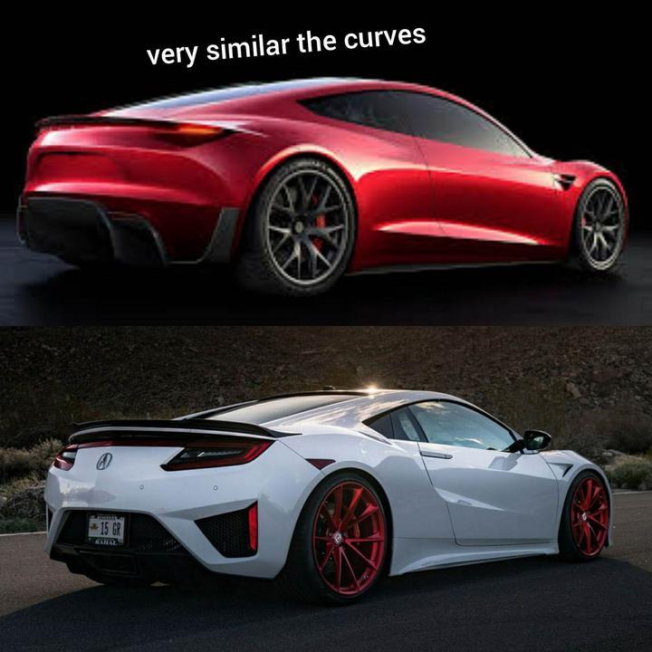 Tesla Roadster'ın tasarımı Honda NSX'in kopyası mı?