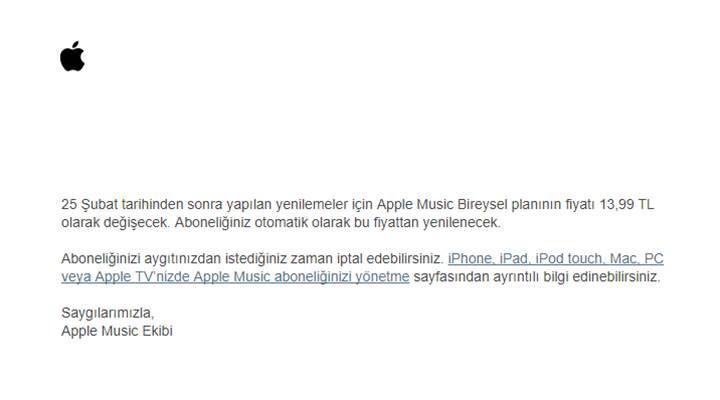 Apple, aboneliklere de vergi zammı uyguladı!