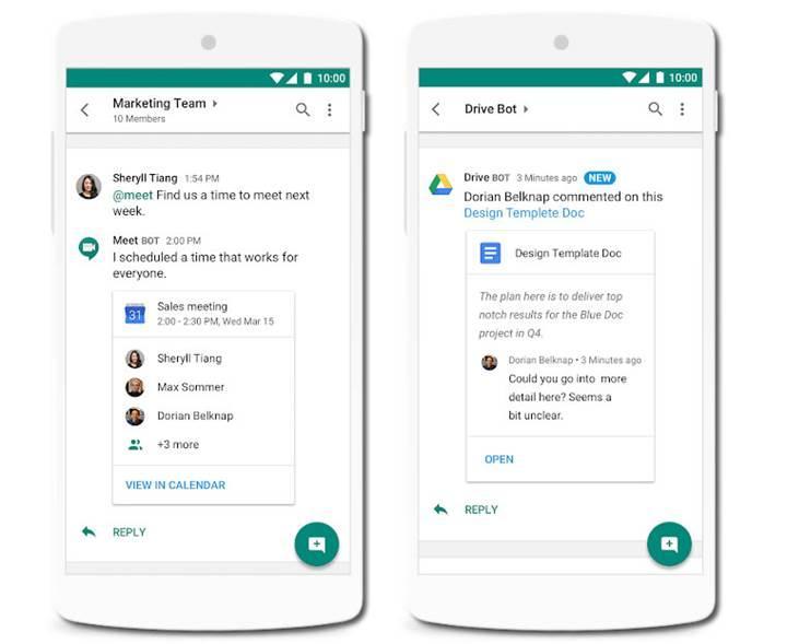 Slack'e rakip olacak Hangouts Chat önümüzdeki hafta kullanıma sunuluyor