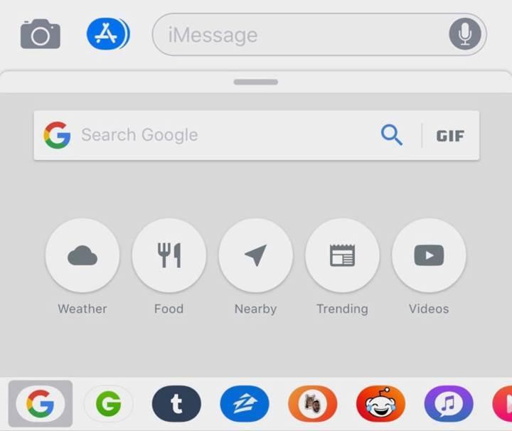 iMessage içerisinden Google araması yapabilirsiniz