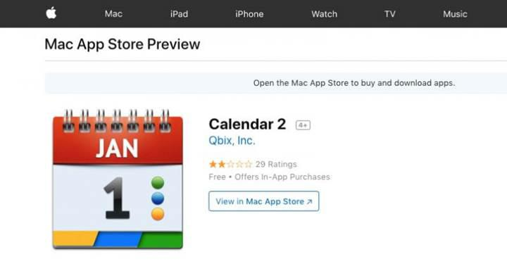 Kripto para madenciliği yapan takvim uygulaması Mac App Store'dan kaldırıldı