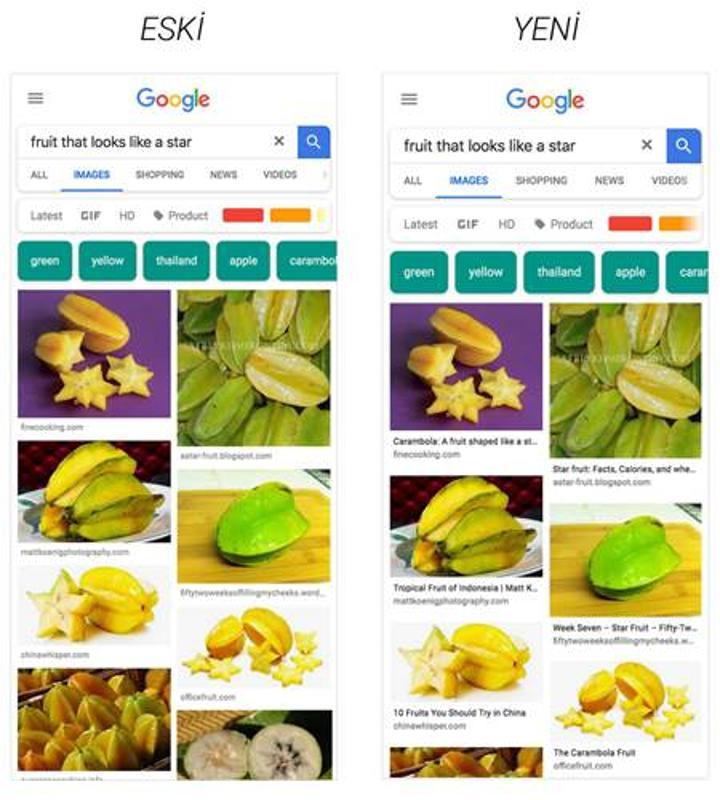 Google, mobil cihazlardaki görsel arama sonuçlarına altyazı ekleyeceğini duyurdu