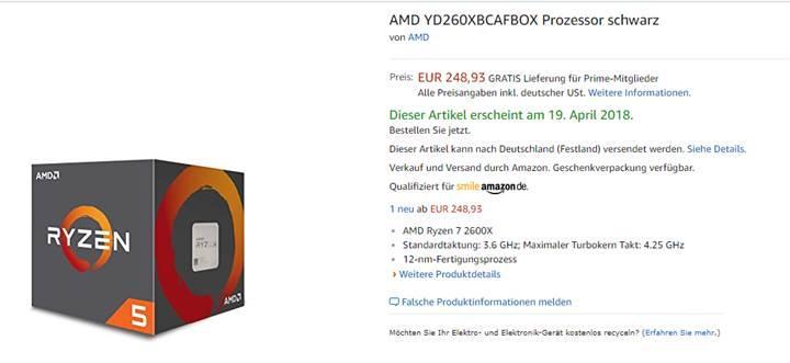 Ryzen 7 2700X ve Ryzen 5 2600'ün incelemesi sızdırıldı: Fiyatlar ve özellikler