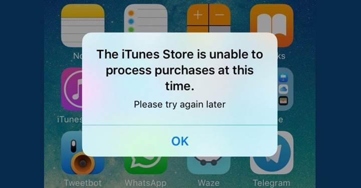 The iTunes Store is unable to process purchases at this time hatası nasıl çözülür?