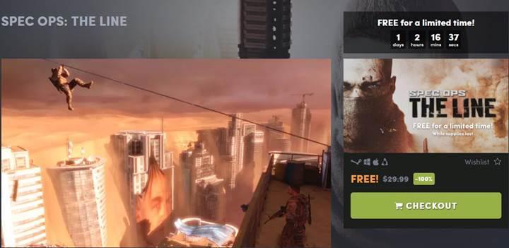 49 TL'ye satılan Spec Ops: The Line oyunu kısa bir süreliğine ücretsiz!