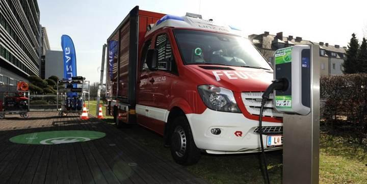 Avusturyalı şirket, Avrupa'nın ilk elektrikli itfaiye aracını geliştirdi