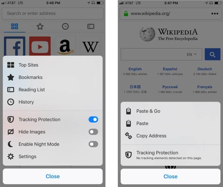 Firefox, iOS versiyonunda veri takibinin önüne geçtiğini duyurdu
