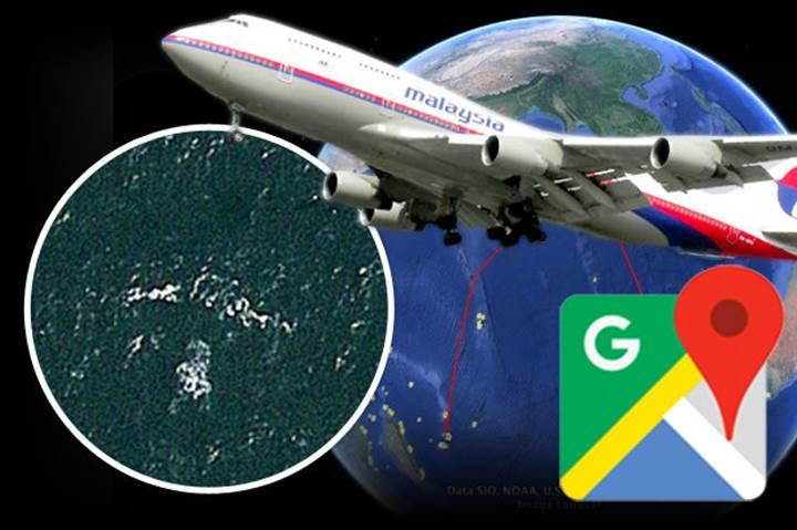 Kayıp Malezya uçağı MH370, Google Earth'de ortaya çıktı