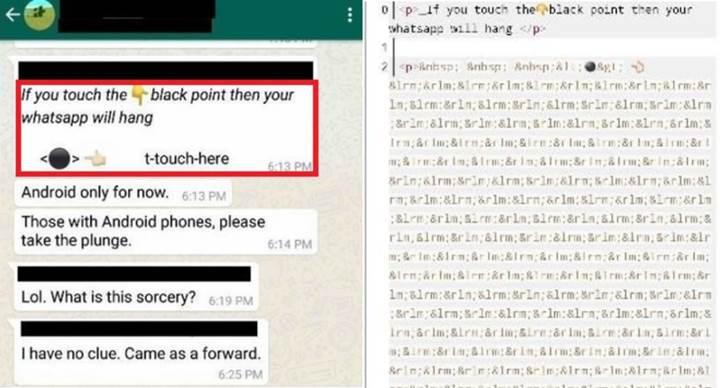WhatsApp üzerinde yine telefonu çökerten mesajlar ortaya çıktı