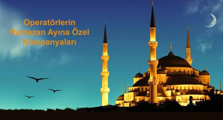 Turkcell, Türk Telekom ve Vodafone'un Ramazan ayına özel hediye internet kampanyaları