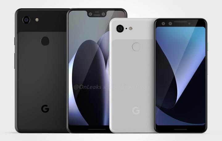 Google Pixel 3 ve Pixel 3 XL modellerinin tasarımı sızdırıldı