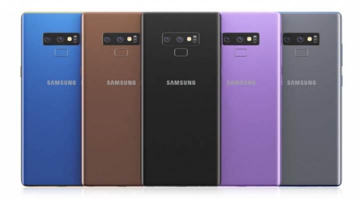 Samsung Galaxy Note 9'un renk seçenekleri belli oldu