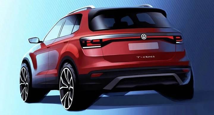Volkswagen, en küçük SUV'u T-Cross'un taslak görüntülerini paylaştı