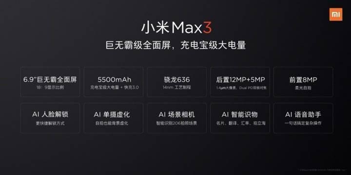 Xiaomi başkanı, Mi Max 3'ü tüm yönleriyle paylaştı! İşte Mi Max 3 özellikleri ve fiyatı