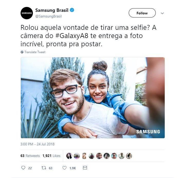 Samsung Brezilya'dan stok fotoğraf cinliği