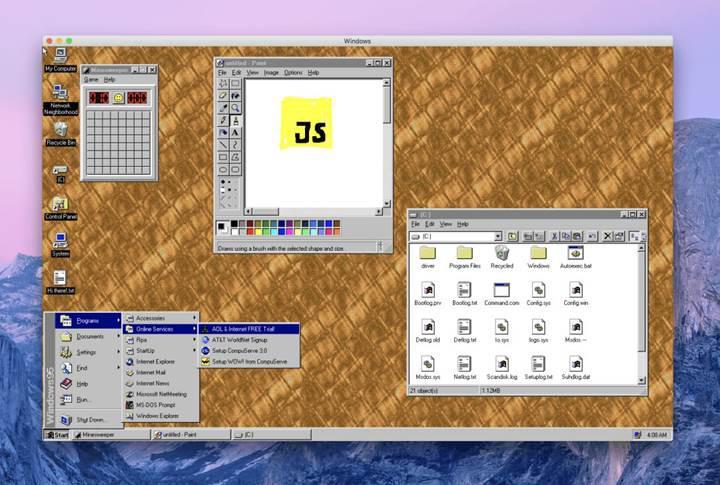 Windows 95'in masaüstü uygulaması ile nostalji yaşayın