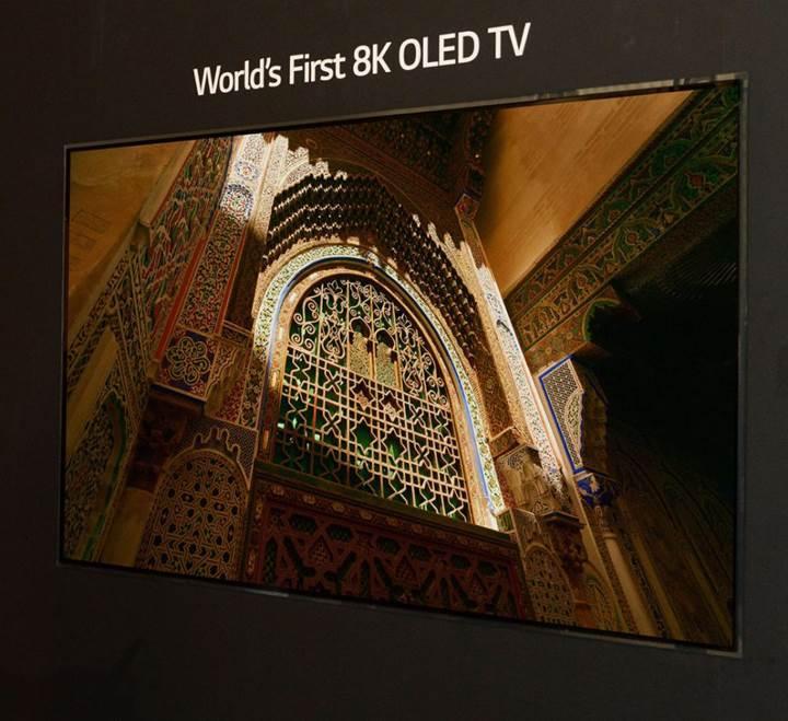 LG dünyanın ilk 8K OLED televizyonunu duyurdu