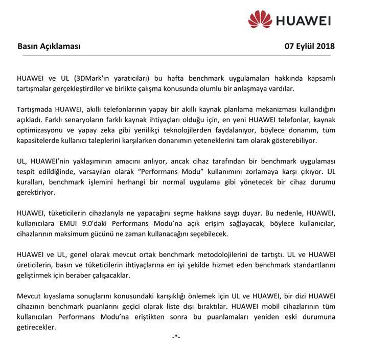 Huawei ve Honor'un performans hilesi üzerine son notlar