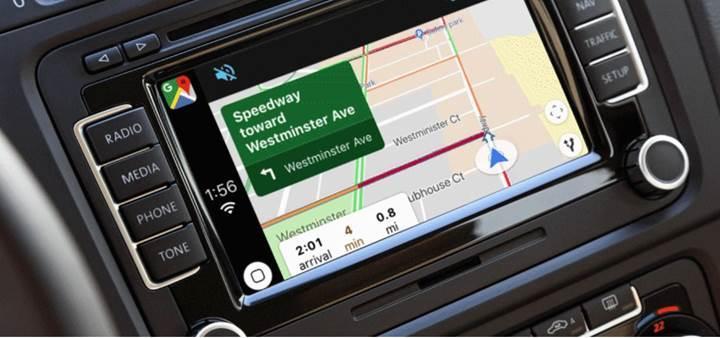 Apple CarPlay artık Google Haritalar'ı destekliyor