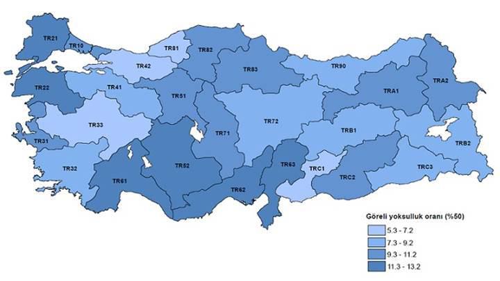 Türkiye'nin gelir dağılımı istatistikleri belli oldu