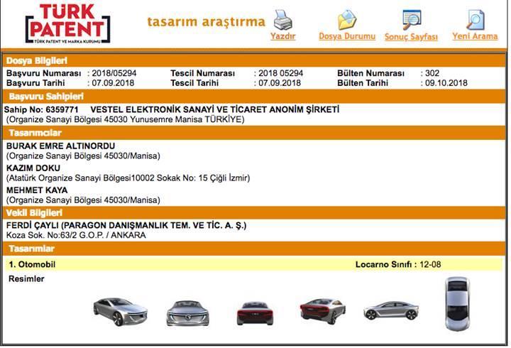 Vestel'den otomobil sürprizi: VEO! İşte aracın ilk tasarım görüntüleri