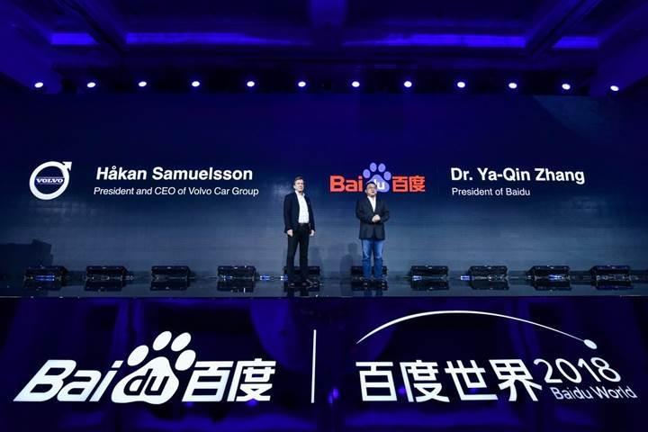 Volvo ve Baidu otonom elektrikli araç üretmek için güçlerini birleştirdi