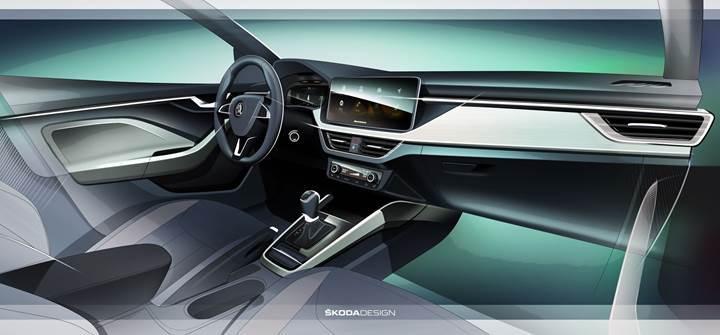 Volkswagen Golf'ün yeni rakibi Skoda Scala iç mekanı ile karşımızda