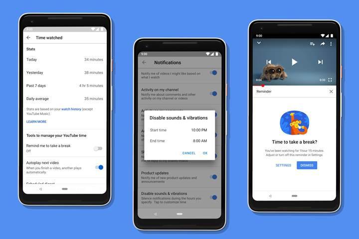 Google'ın Dijital Denge uygulaması kısıtlı sayıda Android Pie cihazı için yayınlandı