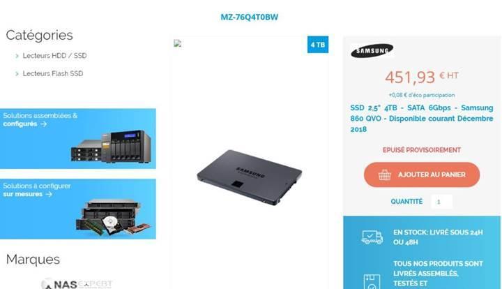 Samsung 860 QVO SSD serisi ön siparişe başladı