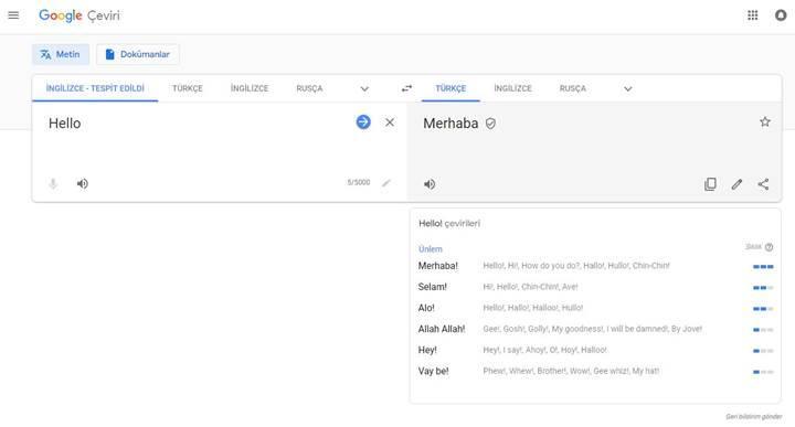 Google Çeviri'nin masaüstü sürümü yenilendi