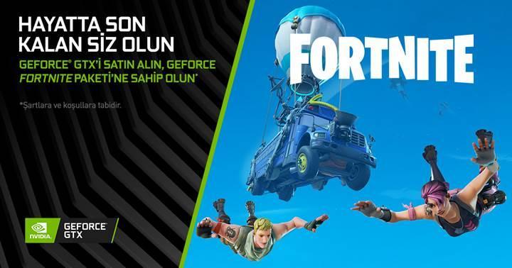 GeForce GTX ekran kartları Fortnite hediye paketi ile geliyor