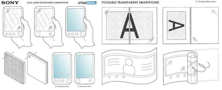 Sony'nin katlanabilir telefonu şeffaf ekranlı olacak
