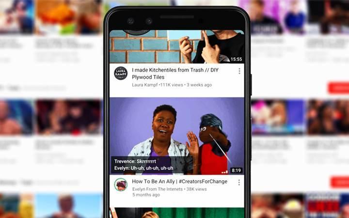 YouTube'un mobil uygulamalarına