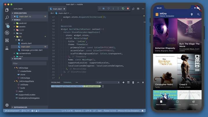 Google'dan hem iOS hem de Android için arayüz geliştirme platformu, Flutter