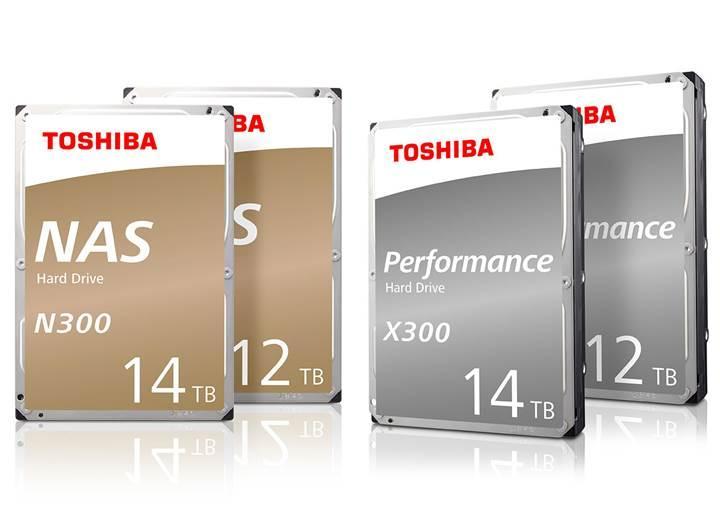 Toshiba 3.5 inçlik HDD serilerine 12TB ve 14TB seçenekleri ekledi