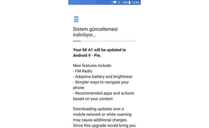 Xiaomi Mi A1 için Android 9.0 Pie güncellemesi yayınlandı